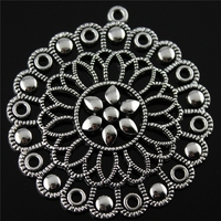 6pcs 57*53mm Antique Silver Color Motif Charms, Fashion Diy Handmade Craft Jewelry Finding