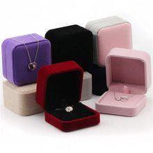 1 шт. квадратный Свадебные бархатные серьги кольцо коробка ювелирных изделий Дисплей Чехол Держатель подарочные коробки удивительный Органайзер