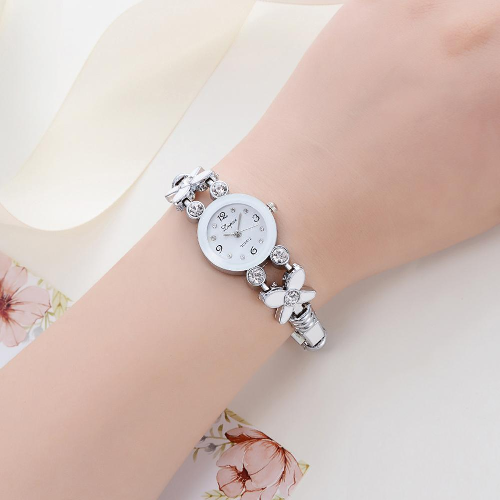Women Watches 2018 Fashion Fashion Casual Women Flower Rhinestone Crystal Bracelet Bangle Quartz Wrist Watch relogio feminino