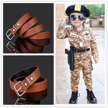 Модные детские кожаные ремни для мальчиков и девочек, детский поясной ремень Пояс для брюк, джинсы, брюки регулируемый Cinturon infantil