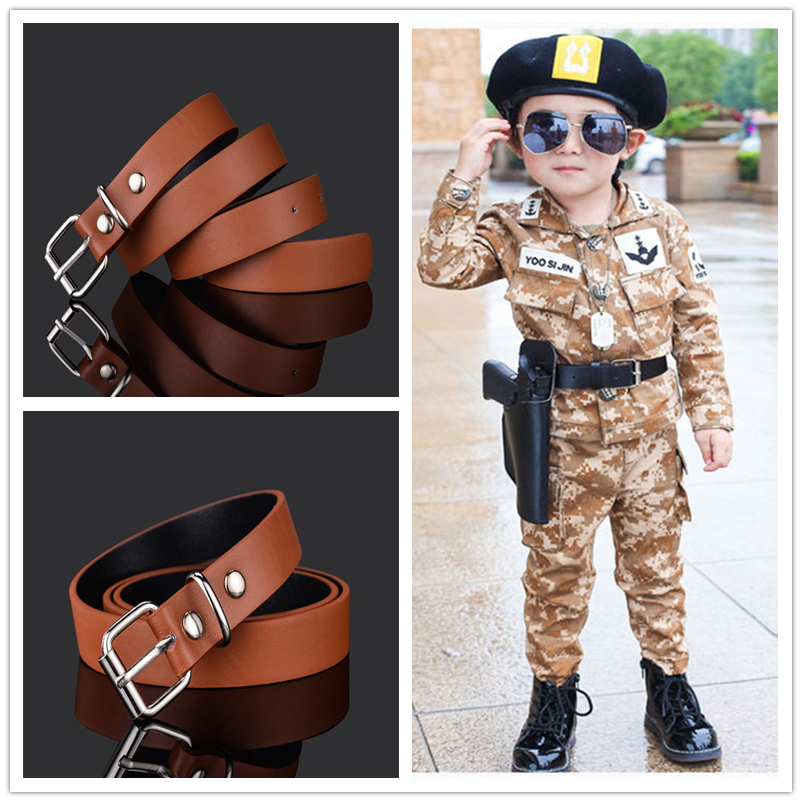 Fashion Children Leather Belts For Boys Girls Kid Waist Strap Waistband For Trousers Jeans Pants Adjustable Cinturon Infantil