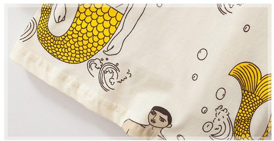 Little maven children brand baby boy clothes 2021 autumn boys cotton long sleeve tops mermaid print t shirt 51171 6