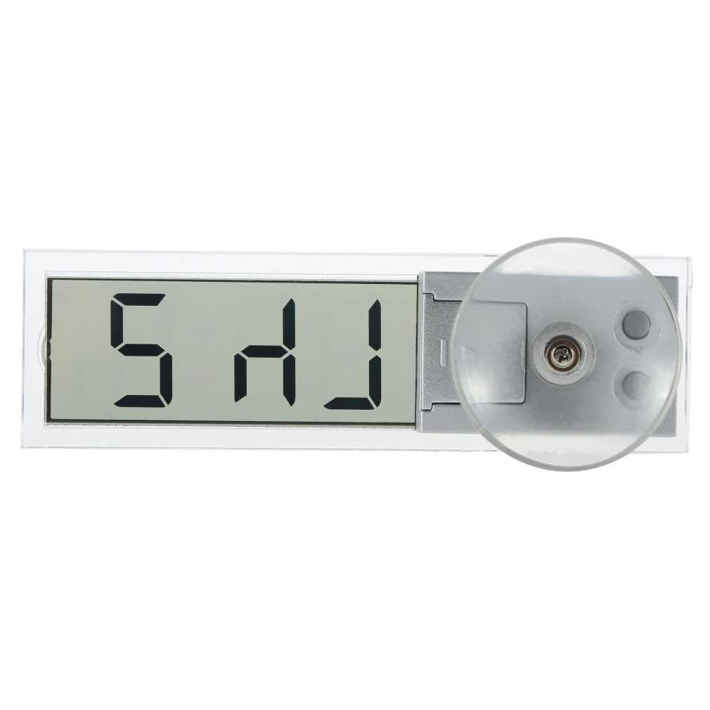 1pcs Hot Search Durable Transparent Car Electronic Clock  LCD Display Digital with Sucker Newest LCD Watch Clock