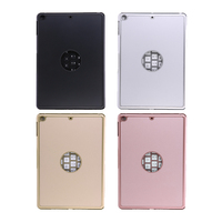 7 Colors Tablet Keyboard Wireless Backlit Keyboard Aluminium Bluetooth Keyboard Smart Folio Case For IPad 9