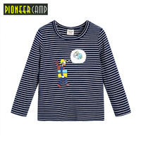 Pioneer Camp Kids 2017 Brand Autumn Spring Kids Clothes Boys Sweatshirt Striped Tee T Shirt Fille
