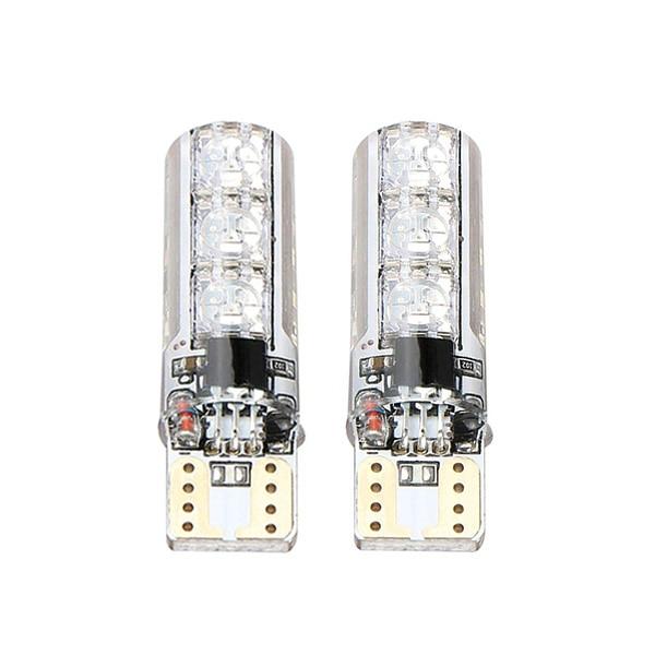 T10 W5W RGB светодиодный Габаритные фонари для автомобиля SMD RGB T10 светодиодный 194 168 лампы дистанционного Управление Светодиодный светильник освещение для чтения в машине Z2 - Испускаемый цвет: 2 Bulbs