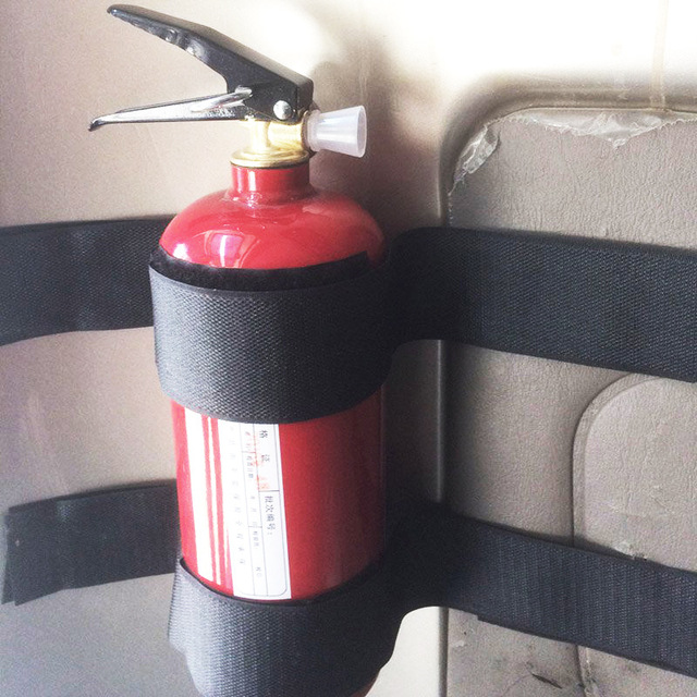 5Pcs/Set Car Fire Extinguisher Sticker nylon tape Belt Net Bandage Car Trunk Storage Bag Magic Tape Hook and Loop Strap Stickers