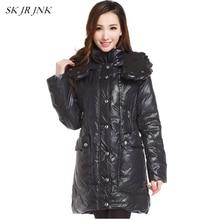 Winter Women White Duck Down Parkas Female Down jacket Ladies Wadded Coat Warm Hooded Cotton Coat Plus Size Zipper Parka WFY163