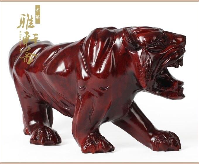 grandes vermelho montanha do tigre tigre de madeira