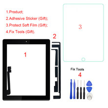 "1Pcs Voor Ipad 3 3rd Gen A1416 A1430 A1403 9.7 ""Lcd Outer Touch Screen Digitizer Voor Glas Panel vervanging(China)"