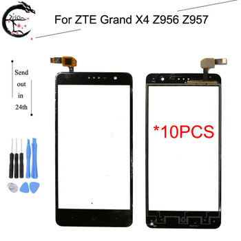 10PCS Touch Panel For ZTE Grand X4 Z956 Z957 Sensor Digitizer Front Glass Screen With Flex Cable Z956 Z957 Touch Touchscreen