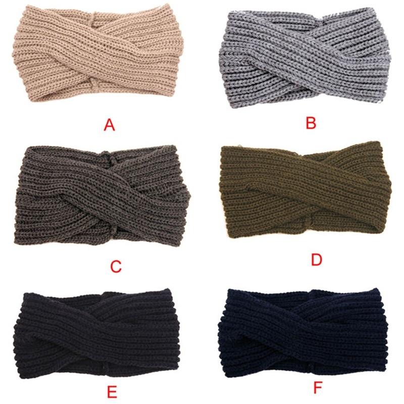 ᗑ】5 colores nueva moda turbante oído invierno cálido ganchillo ...
