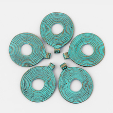 3pcs Patina Antique Greek Bronze Round Irregular Charms Pendant For Pendant Necklace Jewelry Making Accessories 45*36mm цена