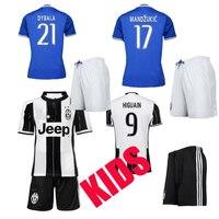 2016 2017 Juventuses Kids Kit Football Shirts 16 17 Soccer Jersey Home Away Third Soccer Uniform