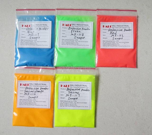 Polvo reflectante, reflexivo, Color: rojo, azul, amarillo, Orange ...