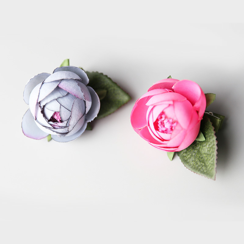 1 PCS New Cute Artificial Flowers Handmade Girls Hair Clips Kids Hairpins Children Hair Accessories Princess Headwear