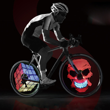 RGB LED Cycle Bike Wheel Light Smart Intelligent Bicycle Spoke Light Hub Light Rechargeable