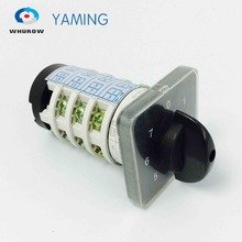 7 position rotary switch 4 Phases 20A manual motor machine switch high voltage electrical cam changeover switch YMZ12-20/4 free shipping 1pcs rotary switch 0 4 position 660v 20a 2 phases 8 terminals electrical changeover cam switch ymz12 20 2