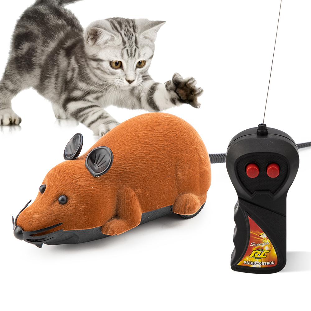 DogLemi Wireless Mice Cat Toys Remote Control False Mouse