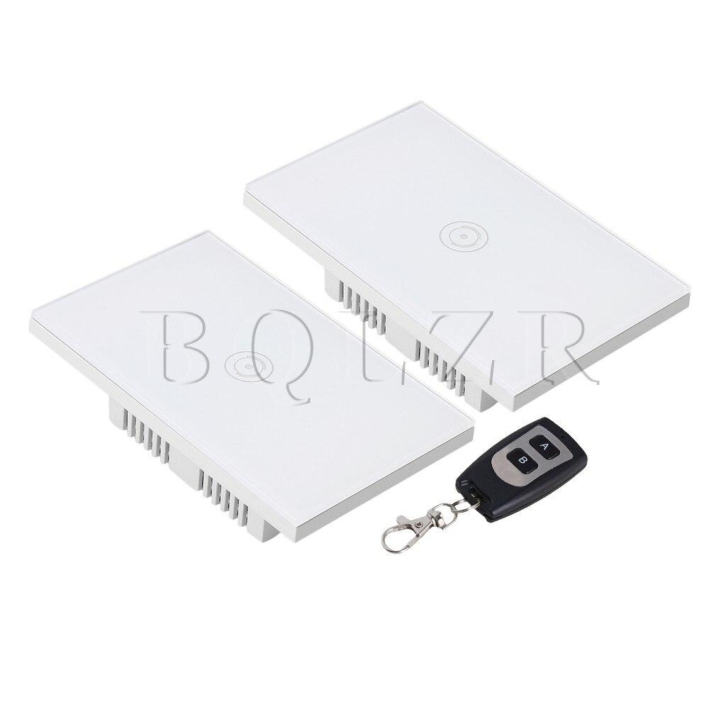 BQLZR US Standard AC90-250V contrôle de commutateur tactile intelligent avec télécommande AB clé télécommande prise en charge de téléphone portable télécommande