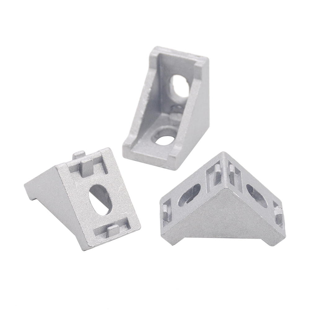 HOT Sale 2028 Corner Fitting Angle Aluminum Connector Bracket Fastener 2020 3030 40/45/60/80 Series Industrial Aluminum Profile