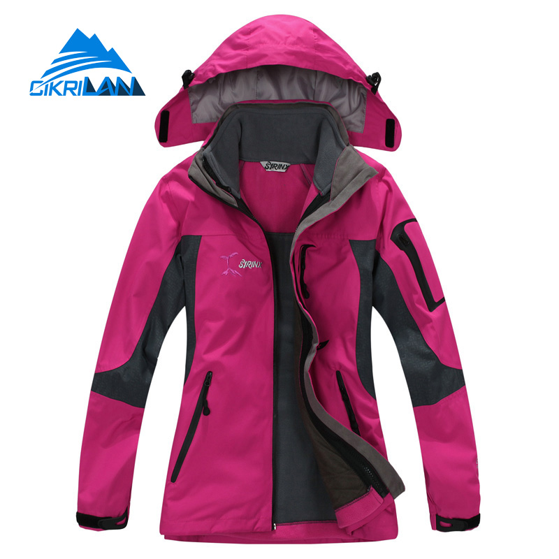 Hot Sale New 3in1 Outdoor Hiking Jacket Women Climbing Casaco Sport Coat Ski Camping Chaquetas Mujer Waterproof Jaqueta Feminina new outdoor sport windbreaker waterproof jacket men hiking camping skiing climbing winter coat fleece lining jaqueta masculino