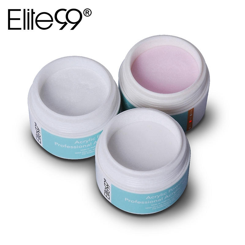Elite99 Professional Acrylic Powder Crystal Nail Art Tip Builder Transparent Powder Crystal Liquid Manicure Pink White Clear 15g