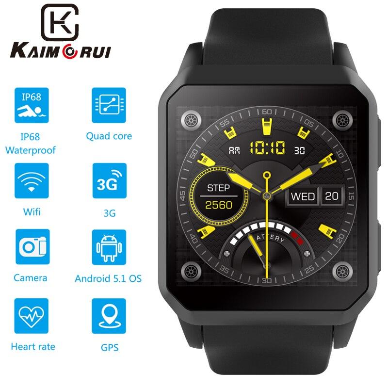 Relógio inteligente dos homens da frequência cardíaca bluetooth 3g smartwatch com o cartão sim gps wifi relógio telefone android 5.1 relógio de telefone para o relógio dos homens