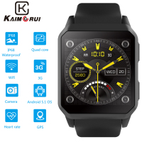 Smart Watch IP68 Waterproof Bluetooth 3G Smartwatch with SIM Card GPS WiFi Watch Phone Android 5.1 Watch Phone for Mens Watch