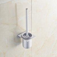 2016 Modern Bathroom Accessories Space Aluminum Fashion Toilet Brush Set Creative Modern Toilet Bowl Toilet Cleaning