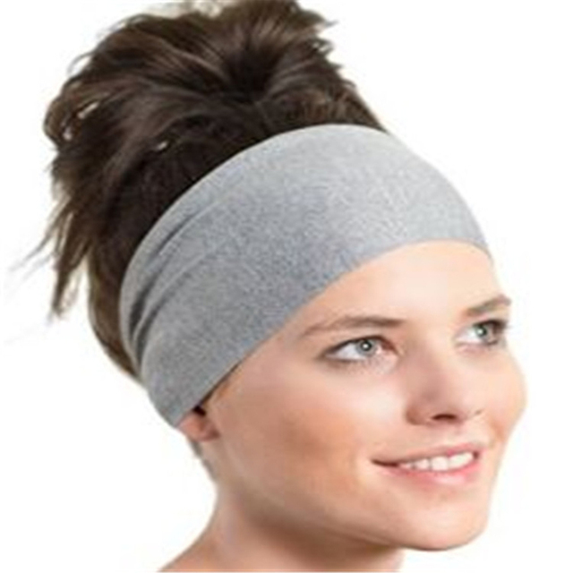 Yoga Gym Sport Stretch Headband Womens Anti Sweat Hairband cotton Men Women  Sweatband Running Outdoor Fitness 210d4aa55f3