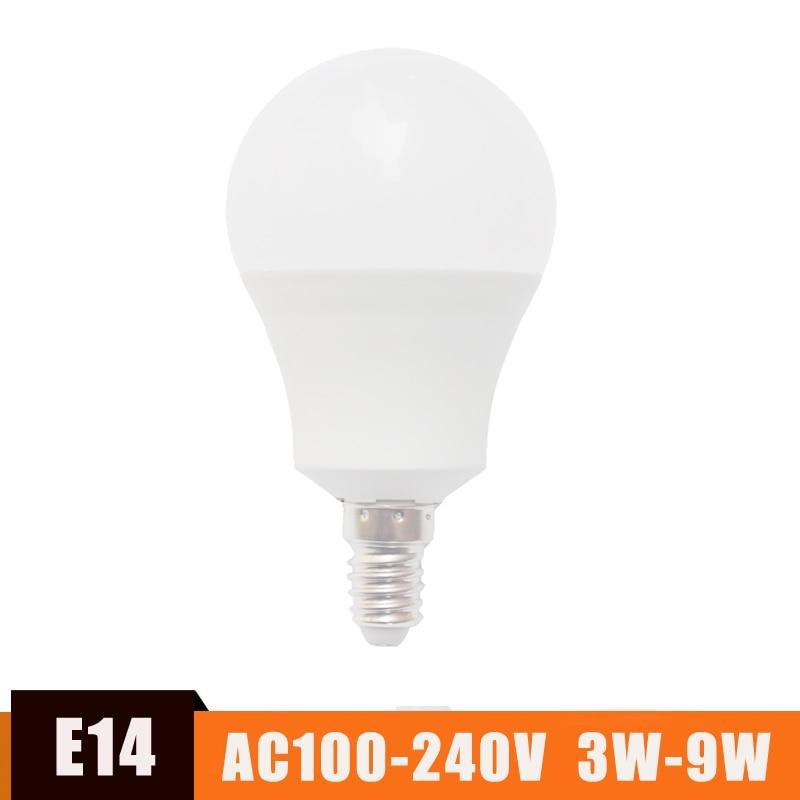 High Brightnes E14 LED Bulb Light 5W 3W-9W Lampada LED Bombillas SMD2835 LED Spotlight Bulb For Home Energy Saving Lamp Led Lamp