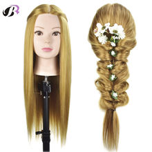 Mannequin Head Hair Training Hairdressing Doll Mannequins Human Heads Of The Dummy Hairstyles 26 Inches Training Mannequin Head(China)
