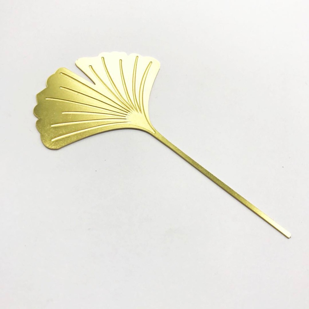 Ginkgo Leaf Bookmarks Brass Metallic Bookmarks Business Gifts TeacherS Day Gifts Beautiful Bookmarks Gifts.