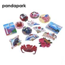 PANDAPARK 3D Смола японский магнит на холодильник сувенир ручной цветной город ориентир наклейка со зданием кухня украшение размещение сообщения