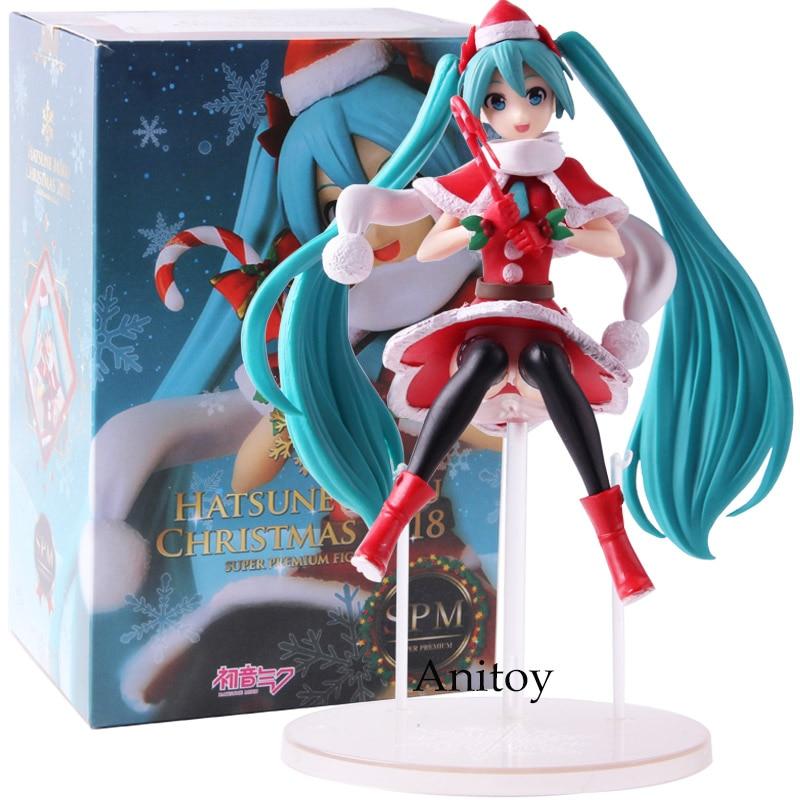 Hatsune Miku Christmas 2018.Sega Hatsune Miku Series Super Premium Figure Hatsune Miku Christmas 2018 Pvc Action Figures Collectible Model Toy