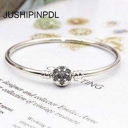 True original snake chain bracelet DIY charm silver 925 100% custom snow for the bead bracelet pendant jewelry