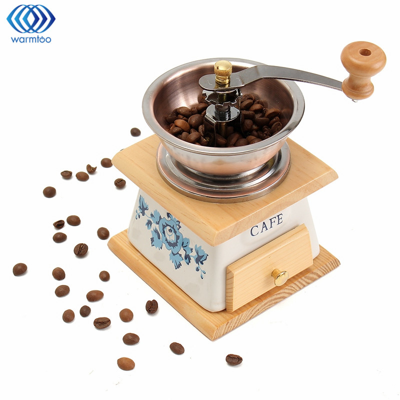 Coffee Beans Grinder Spice Mill With High-quality Movement Coffee Maker Classical Classical Wooden Hand Manual Home high quality hand coffee grinder manual coffee bean pepper grinder ceramic burr nut mill home office coffee maker