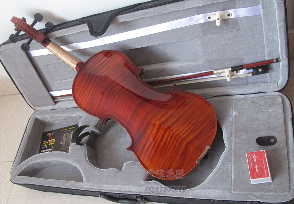 Cheap, wholesale, retail, solid wood tiger 4/4 3/4 1/2 1/4 1/4violin