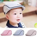 Summer Cute Baby Visor Beret Hat Kids Infant Boy Girl Stripe Beret Cap Peaked Baseball Hat Casquette Flat Snapback Caps W5