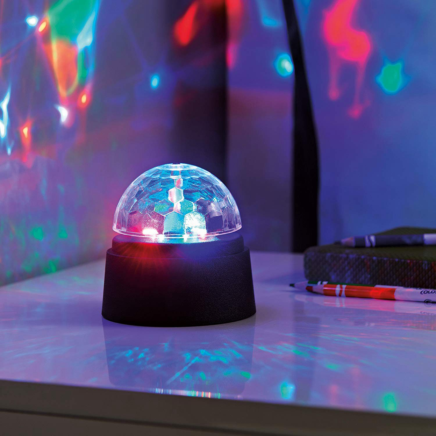 New Battery Operated Crystal Starball Mini Magic Ball Led Stage Lighting Effect RGB DJ Light Bar Party LED Disco Light Club