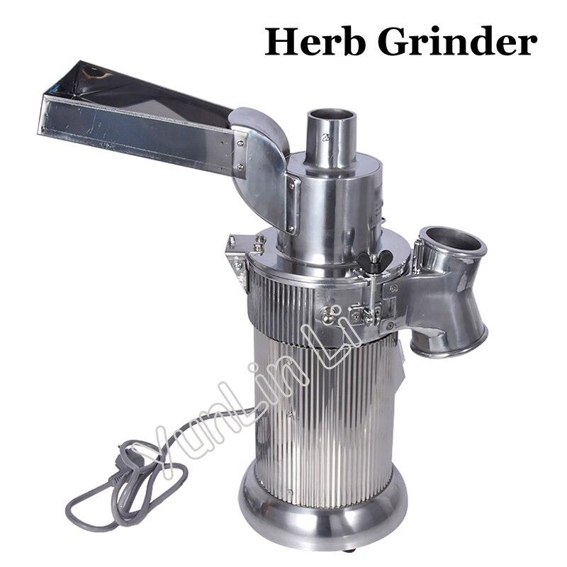 Automatique Machine De Broyage D'herbes Continue Chinois Herbe Pulvérisateur 20 kg/heure Nourrir Grinder DF-20