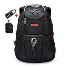 """Marque suisse ordinateur portable 15.6 """"sac à dos externe USB Charge suisse ordinateur sacs à dos antivol sac à dos étanche sacs pour hommes femmes"""