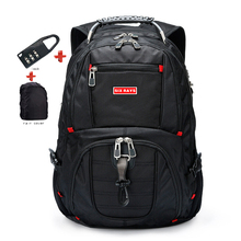 """ยี่ห้อ Swiss แล็ปท็อป 15.6 """"กระเป๋าเป้สะพายหลัง USB Charge Swiss กระเป๋าเป้สะพายหลังคอมพิวเตอร์ Anti Theft กระเป๋าเป้สะพายหลังกระเป๋ากันน้ำสำหรับผู้ชายผู้หญิง"""