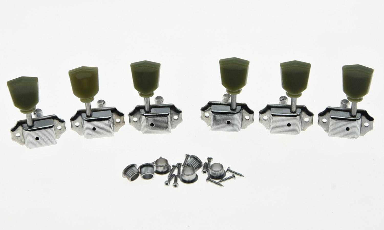 KAISH Chrome Deluxe Tuning Pegs Keys LP Guitar Tuners Machine Heads 3L3R the black keys the black keys el camino 2 lp