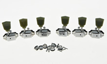 KAISH Chrome Deluxe Tuning Pegs Keys LP Guitar Tuners Machine Heads 3L3R