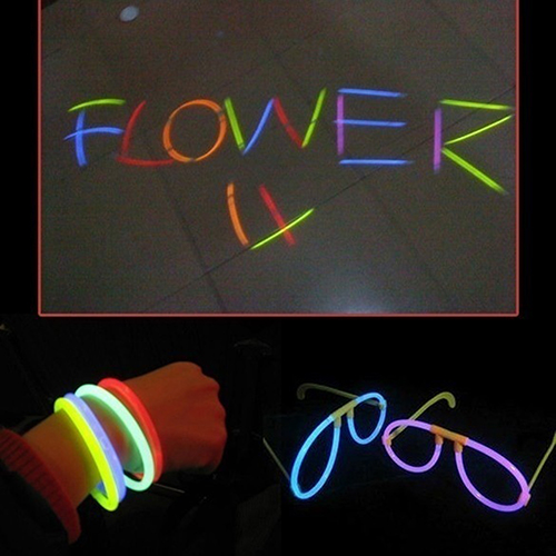 100Pcs/Lot Multi-color Fluorescent Bracelets Party Rave Night Club Glow Sticks