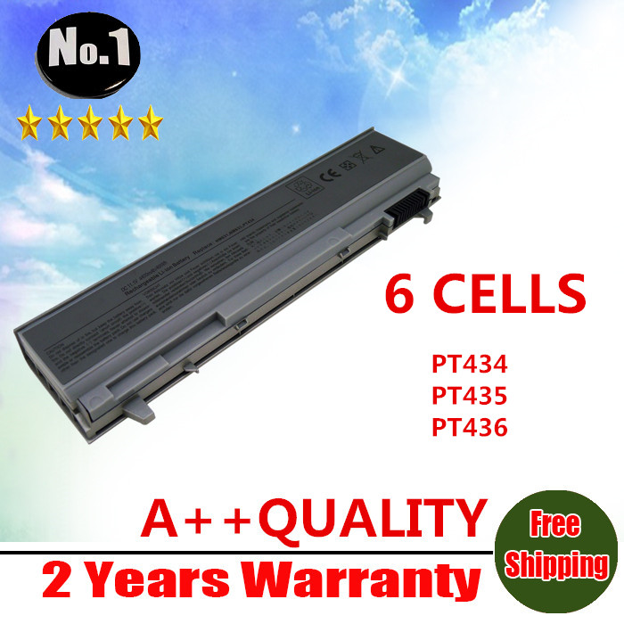 WHOLESALE New 6 CELLS Laptop Battery For Dell Latitude  E6400 E6410 E6500 E6510 PT434 PT435 PT436 PT437 Free shipping wholesale new 6 cells laptop battery for dell latitude d620 d630 d630c d631 series 0gd775 0gd787 0jd605 0jd606 free shipping