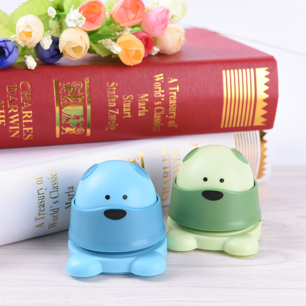 The Student Office Stapler Cartoon Mini Winnie Finisher Environmental Protection Without Staple Staple-Free Stapler