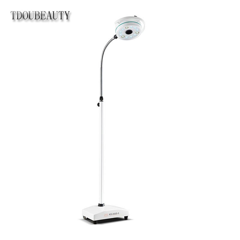 2019 NUOVO TDOUBEAUTY Dentale Dipartimento Mobile Portatile LED Medical Surgical Esame Luce Lampada Shadowless Kd in Ospedale Pet KD-2012D-3